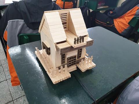 冰棒棍-小木屋(製作過程)