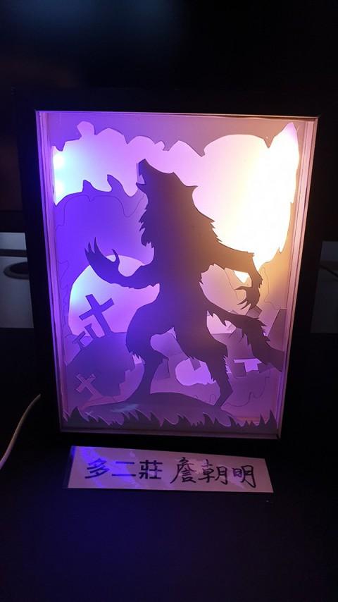 紙雕燈製作與成品